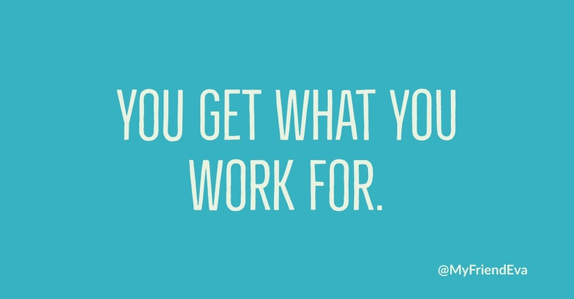 Work for it… 💎